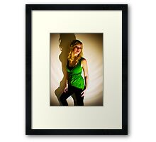 Sanna in green II Framed Print