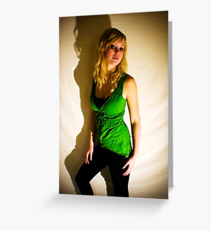 Sanna in green II Greeting Card