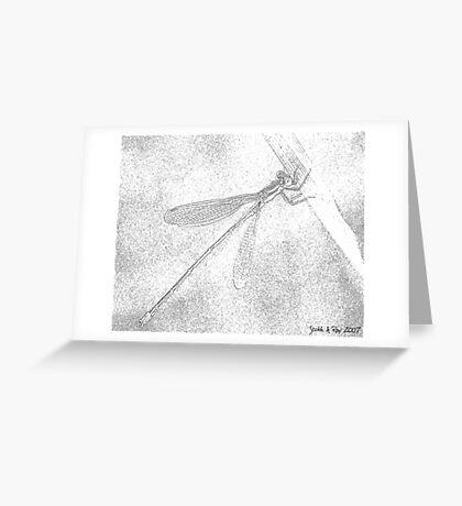 Dragon in Pencil Greeting Card