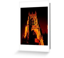 York Minster with darker tones Greeting Card