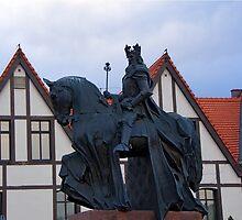 Casimir III the Great King of Poland sculpture in Bydgoszcz by Elzbieta Fazel