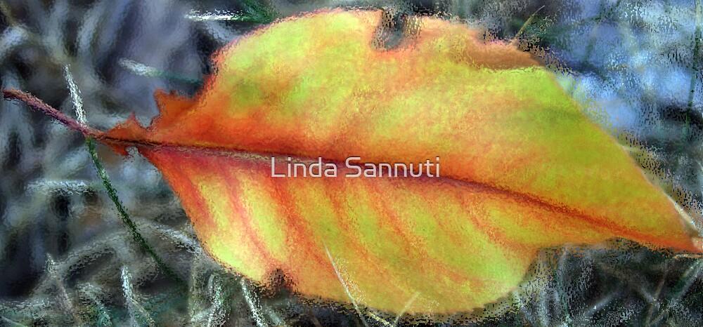 glass leaf by Linda Sannuti