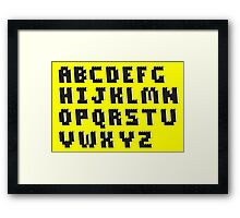 Brick Font Alphabet Framed Print