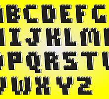 Brick Font Alphabet  by ChilleeW