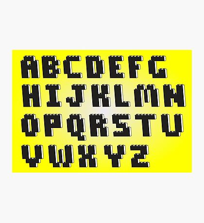 Brick Font Alphabet  Photographic Print