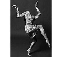 Dancer in Leopard-Print Dress Photographic Print