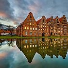 Old town of Lubeck by Michael Abid