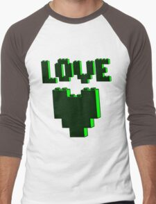 """""""LOVE""""  Men's Baseball ¾ T-Shirt"""