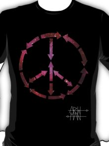 (Arrows) Peace Out (Black) T-Shirt