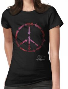 (Arrows) Peace Out (Black) Womens Fitted T-Shirt