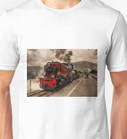 Steaming in the Welsh Highlands  Unisex T-Shirt