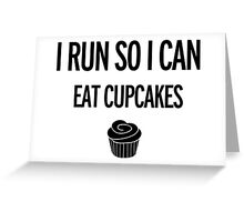 Run, Cupcakes, Exercise, Fitness Greeting Card