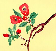 Red Blossoms from Amphai by Baina Masquelier