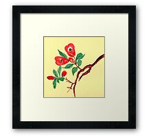 Red Blossoms from Amphai Framed Print