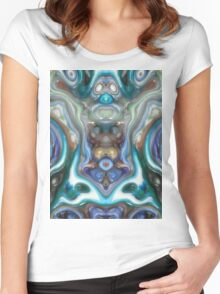 Colorful Reflections of Glass Women's Fitted Scoop T-Shirt