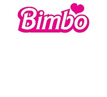 Bimbo in cute little dolly doll font Photographic Print