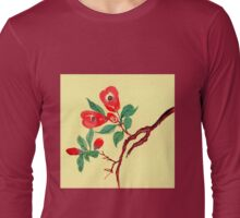 Red Blossoms from Amphai Long Sleeve T-Shirt