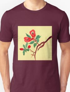 Red Blossoms from Amphai Unisex T-Shirt