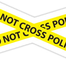 POLICE LINE DO NOT CROSS Sticker