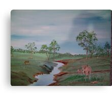 Cows by the River Canvas Print