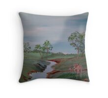 Cows by the River Throw Pillow