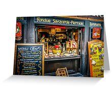 Paris Fondue Greeting Card