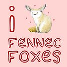 Fennec Fox Love by Sophie Corrigan