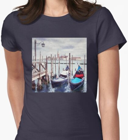 Gondolas, Venice Womens Fitted T-Shirt