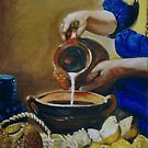 Milkmaid inspired by Vermeer by Marilyn Brown