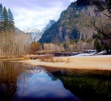 Reflection of half Dome by Jim Sells