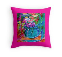 Summer Day Flowers Designer Gift Throw Pillow
