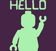 Minifig Hello Womens Fitted T-Shirt