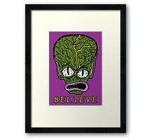 Believe Alien Framed Print