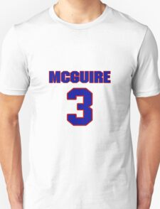 Basketball player Alfred McGuire jersey 3 T-Shirt