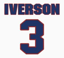 Basketball player Allen Iverson jersey 3 T-Shirt