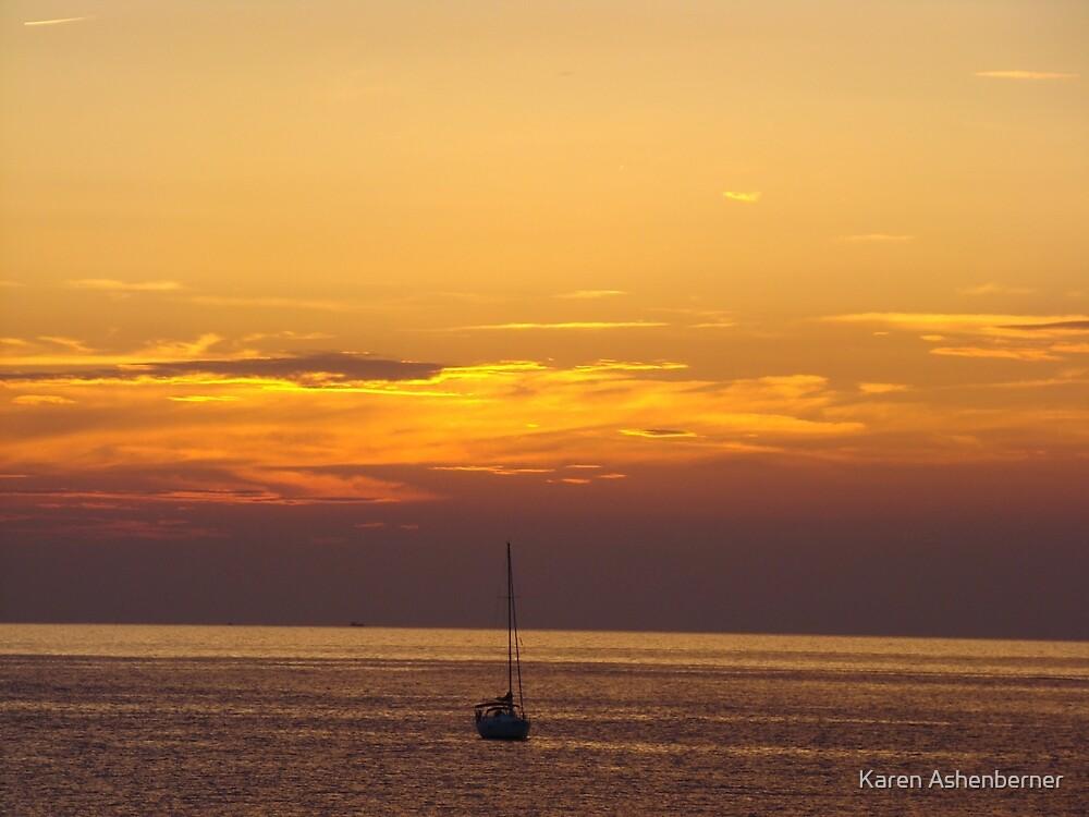 Cinque Terre Sunset by Karen Ashenberner