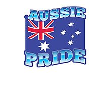 AUSSIE pride with australian flag Photographic Print