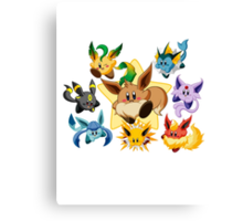 Eevee kirby pokémon Canvas Print