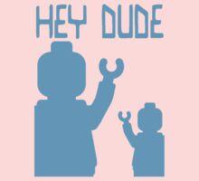 Minifig Hey Dude One Piece - Long Sleeve