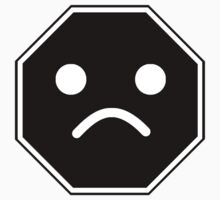 UNHAPPY MINIFIG FACE ROADSIGN  by ChilleeW