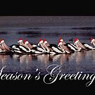 Santa's Helpers on Lake Boort by LOREDANA CRUPI