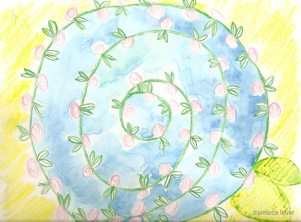 watercolor pinwheel  by candace lauer