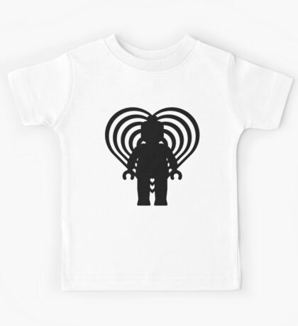 RETRO MINIFIG IN FRONT OF HEART  Kids Tee