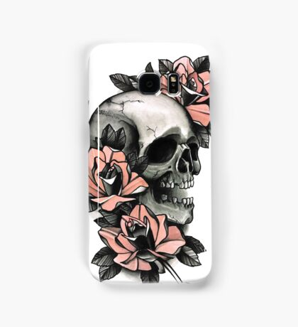 Skull and Roses Samsung Galaxy Case/Skin