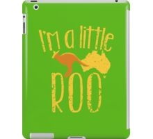 I'm a little ROO cute kangaroo with Australian map distressed version iPad Case/Skin