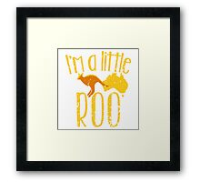 I'm a little ROO cute kangaroo with Australian map distressed version Framed Print