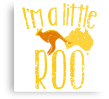 I'm a little ROO cute kangaroo with Australian map distressed version Metal Print