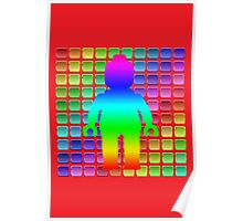 Rainbow Minifig in Front of Buttons Poster