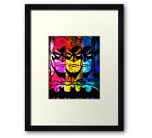 Batman pop art Framed Print
