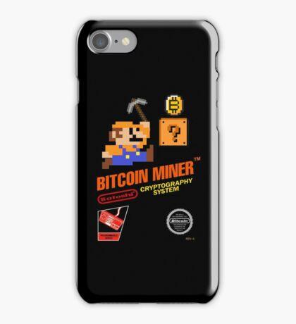 Bitcoin Geek Nintendo Gaming Funny Mario Mashup  iPhone Case/Skin